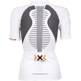X-Bionic The Trick Biking Shirt SS Full Zip Women White/Black
